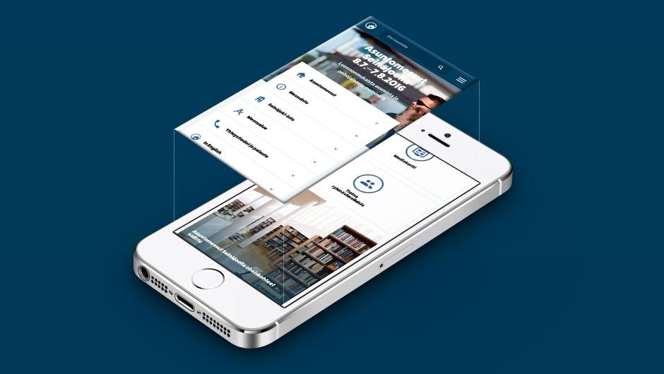 Asuntomessut website on mobile phone