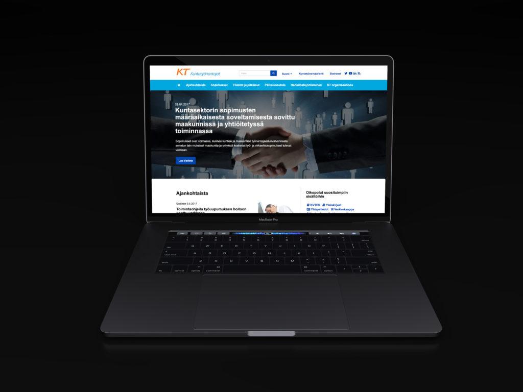 Kuntatyönantaja sivuston näkymä