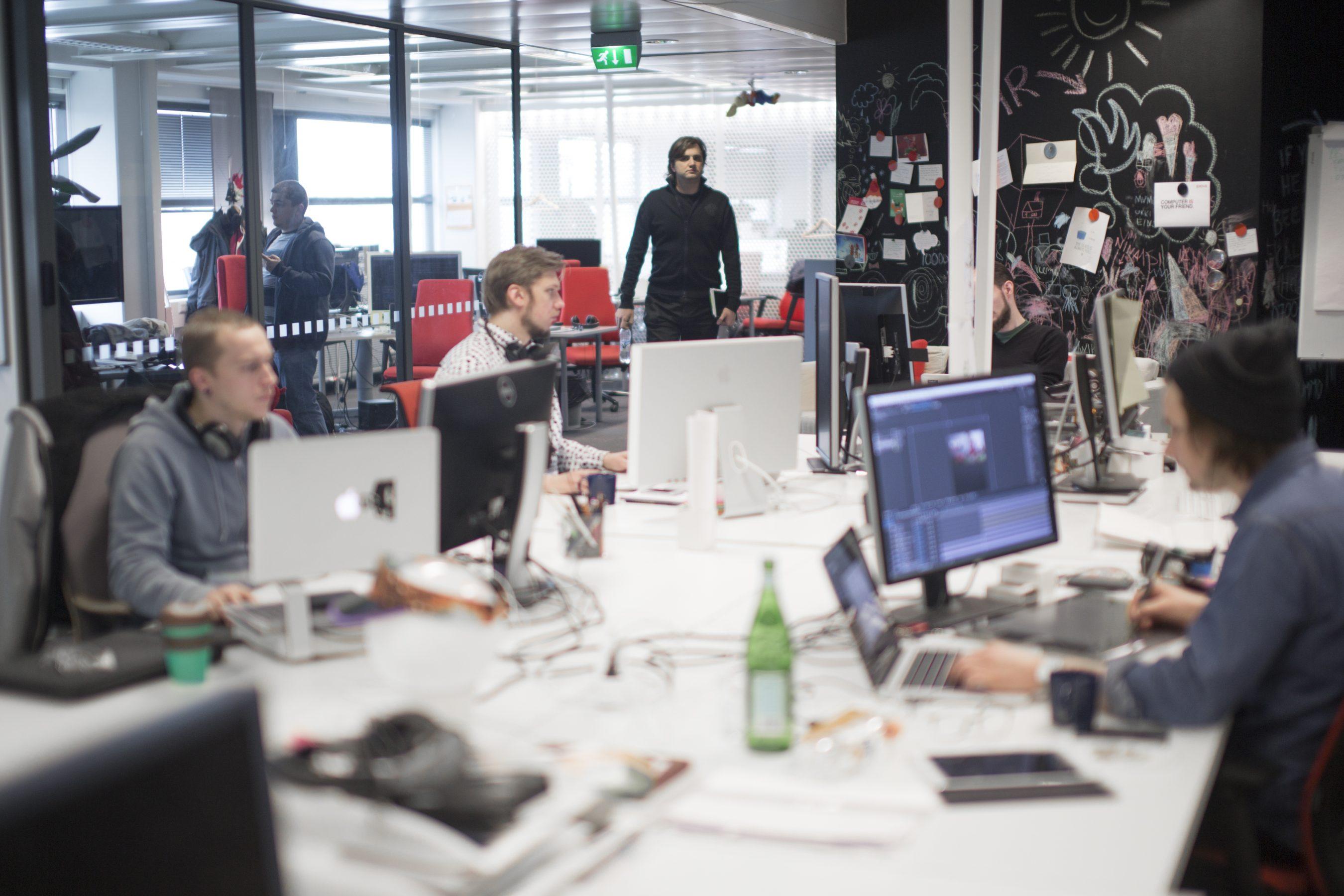 Exove office full of developers