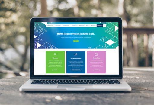 Laptop screen with Fennovoima site