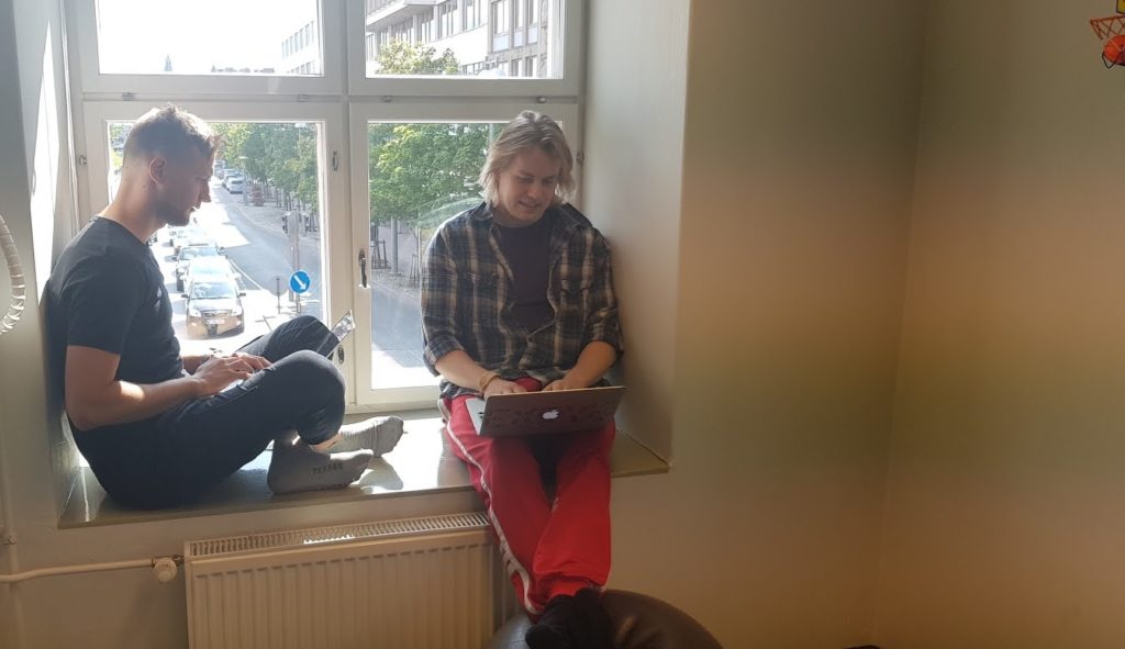 Exove trainees at Tampere office