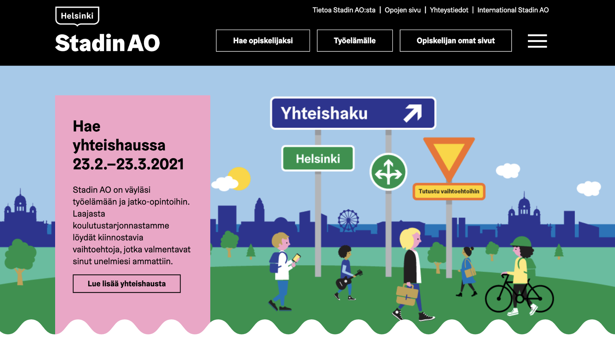 Image of the Stadin AO website